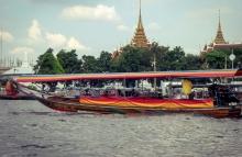 Longtailboat op Chao Praya Rivier, Bangkok