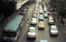 Verkeersdrukte in Bangkok
